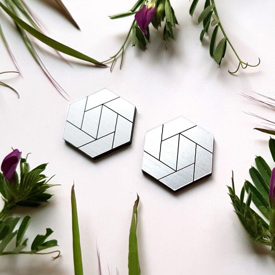 Náušnice hexagony